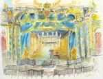 Bayreuth Markgräfliches Opernhaus Aquarell