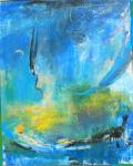 Der blaue Mond Acryl/Lw. 100x80